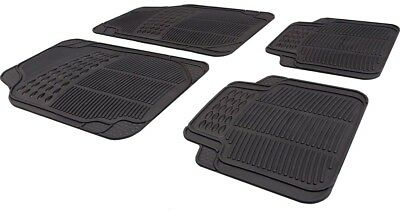 Car Black Rubber Front/Rear Floor Mats Ford Fusion 2002-2012 • 9.99£