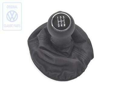 VW Lupo 5 Speed Gear Knob With Off Black Leather Gaitor Genuine NOS OEM Part • 55£