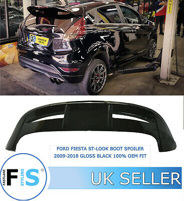 Ford Fiesta St Look Boot Performance Spoiler 2009-2018 Gloss Black 100% Oem Fit  • 89.99£