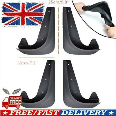 4 X Front Rear Pvc Rubber Moulded Car Universal Mudflaps Mud Guard Flaps W/clips • 11.87£