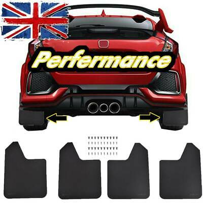 4X Wide Racing Rally Car Performance Mudflaps Mud Flaps Guard Universal W/Clips • 12.97£