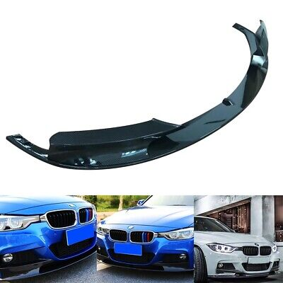 Carbon Fiber Front Bumper Spoiler Cover Lip For 2012-18 BMW F30 3 Series M Style • 56.99£
