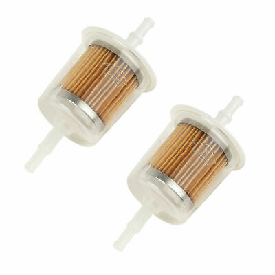 2 X Universal Petrol Inline Fuel Filter LARGE Car Part Fit 6 Mm And 8 Mm Pipes • 5.95£