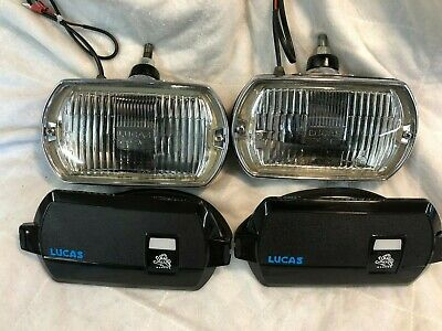 Lucas Ft8 Fog  Lamps Marina Ital 1800 With Covers Refurbished • 88£
