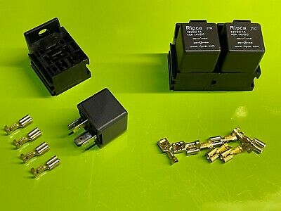 3 X 40 Amp 4 Pin Relays With Holders And Terminals • 12.95£