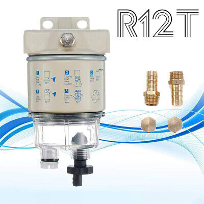 R12T Boat Marine Rotation Oil Fuel Filter Water Separator R12 R12S R12T R12P • 19.99£