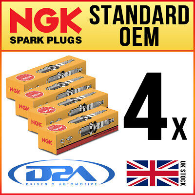 4x NGK BP6HS (4511) Standard Spark Plugs For TRIUMPH TR2 2.0 08/53-->07/55 • 7.58£
