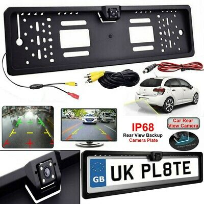 Car License Plate Frame HD Night Vision Car Rear View Reverse Rear Camera 4 LED • 9.99£