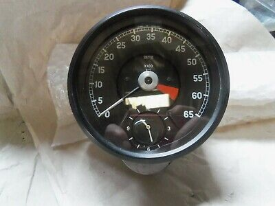 Jaguar E Type Tachometer Rev Counter. 6000 Red Line  With Time Clock. RV7413/14 • 135£