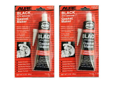 2 X New Black RTV Silicone Gasket Maker RTV Silicon High Temp Sealer Instant 85g • 5.95£