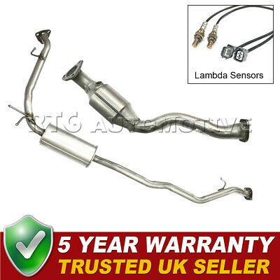 Catalytic Converter, Middle Box, 2x Oxygen Sensors Honda Jazz 1.2 1.3 1.4 02-08 • 164.99£