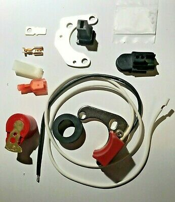 Lucas 25D DM2 4 Cyl Electronic Ignition Kit Positive Earth + Ve + Red Rotor Arm • 26£