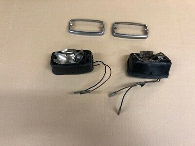 Ford Escort Mk1 Reserve Light Backs And Wiring   Pair.    With Retaining Rings • 45£