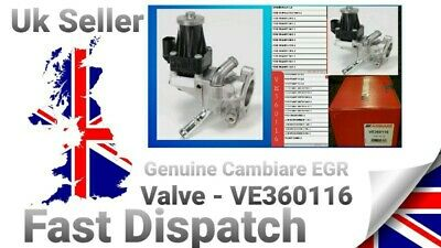 Genuine Cambiare EGR Valve - VE360116. • 110£