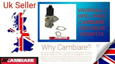 VAUXHALL /OPEL /FIAT/CAMBIARE  VE360174 EGR VALVE (Vehicles In Description), • 80£