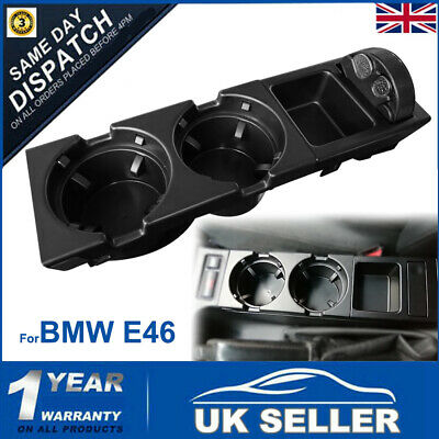 For BMW E46 325 328 330 1999-06 Center Console Drink Cup Holder Coin Storage • 15.99£