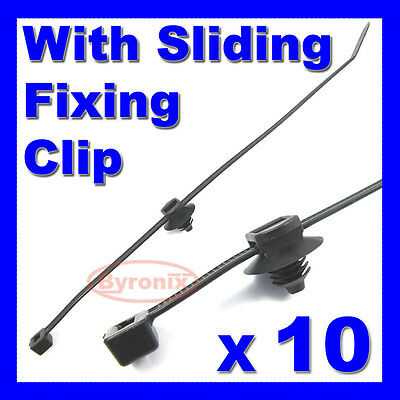CABLE TIES KIT CAR BOAT TRAILER ZIP TIE WRAP CLIP WIRING LOOM HARNESS 200 X 4.6 • 3.45£