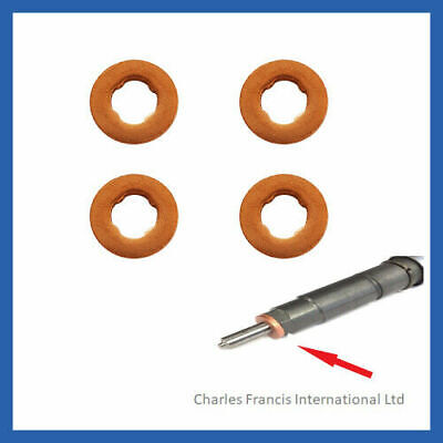 VAUXHALL CORSA 1.3 CDTi  COMMON RAIL DIESEL INJECTOR WASHER SEAL X 4 • 4.94£