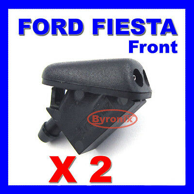 Ford Fiesta Front Windscreen Washer Jets X 2 Spray Nozzle - With Rubber Seal • 8.65£