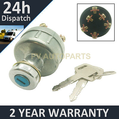 Ignition Starter Switch For Takeuchi Digger Excavator + Wiring Instructions • 22.99£