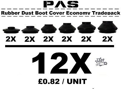 Universal Track Rod End Ball Joint Rubber Dust Boot Covers Gaiters Tradepack 12x • 10.95£