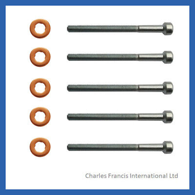 Jeep Grand Cherokee 2.7 Injector Bolt And Washer Seal Kit - Pack Of 5 • 10£