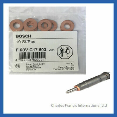 BMW Series 1,2,3,4,5,6,7 - Genuine Bosch Diesel Injector Washers F00VC17503 X 10 • 13.50£