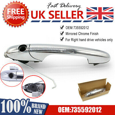 New Fiat 500 Offside Right Drivers Side Chrome Outer Door Handle 735592012 P • 17.29£