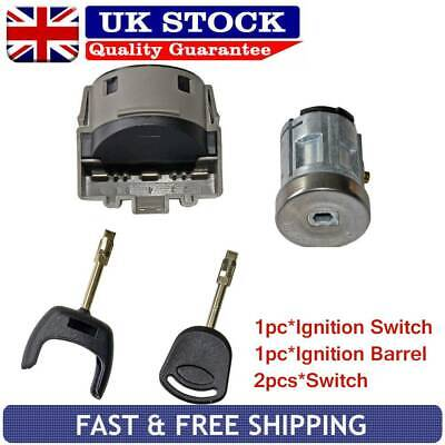 Ignition Switch &Lock Barrel Set For FORD Transit Focus Mondeo Fiesta 2002-2008 • 16.43£