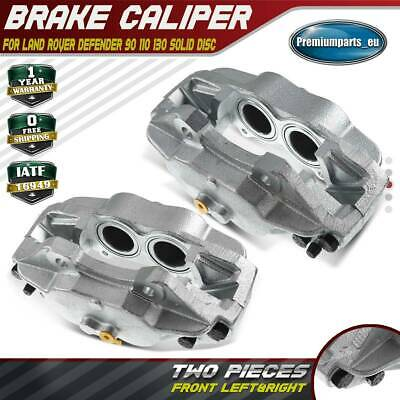 2x Brake Calipers Front Left&Right For Land Rover Defender 90 110 130 Solid Disc • 82.99£