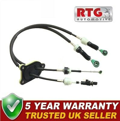 Gear Linkage Control Cables Set For Bipper Nemo Fiorino Qubo 1.3 Diesel  2012-18 • 39.95£