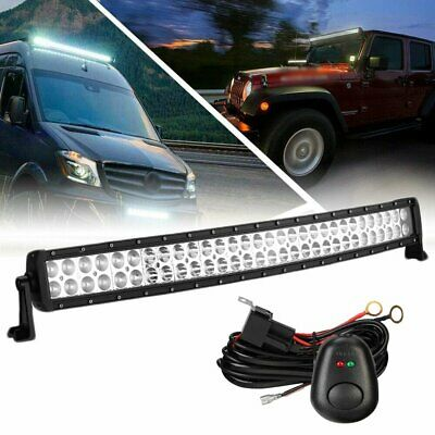 32'' LED Light Bar 540W Curved Offroad Driving Fog Lamp + Wiring Harness Trucks • 15.99£