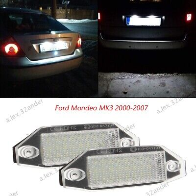 2X White Number License Plate Lights Lamp 24 LED For Ford Mondeo MK3 2000-2007 • 11.75£