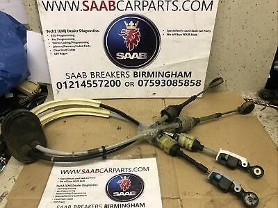 Saab 9-3 1.9 Ttid Twin Turbo Gear Selector Cables 5555739510r 6 Speed 07- 2012  • 40£