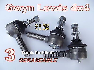 Defender 90 110 130 Track Rod Ends Heavy Duty Greaseable Gwyn Lewis 4x4 Sumobars • 27.30£