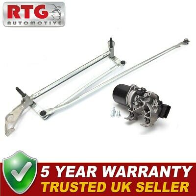 New Front Windscreen Wiper Motor + Linkage For Renault Clio 2007-2012 UK Models • 89.95£