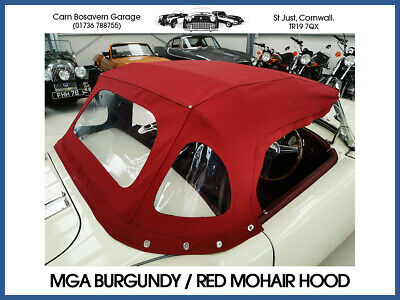 MGA Roadster Red / Burgundy Mohair Hood (Fabric Canvas Material) *OTHER COLOURS* • 540£