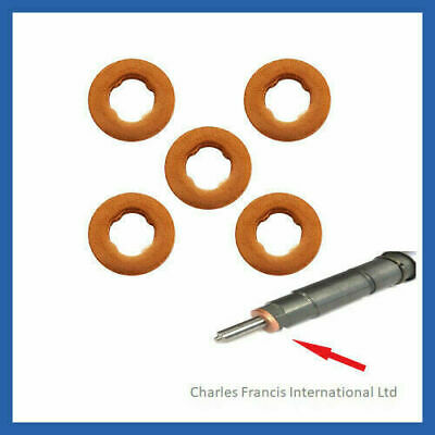 FOCUS C-MAX 1.6 TDCi COMMON RAIL DIESEL BOSCH INJECTOR WASHER SEAL X 5 • 5.46£