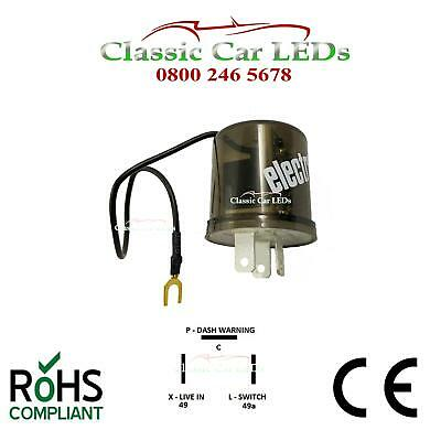 12V ELECTRONIC INDICATOR FLASHER RELAY POSITIVE EARTH GROUND 2 Or 3 PIN OPTIONS • 13.34£