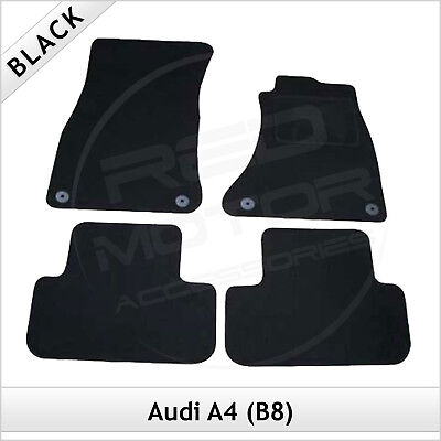 Audi A4 Estate Avant B8 2008-2015 Tailored Fitted Carpet Car Floor Mats BLACK • 19.99£