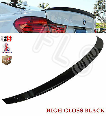 Bmw 4 Series F32 M Performance Style Rear Boot Spoiler 100% Oem Fit Gloss Black • 69.99£