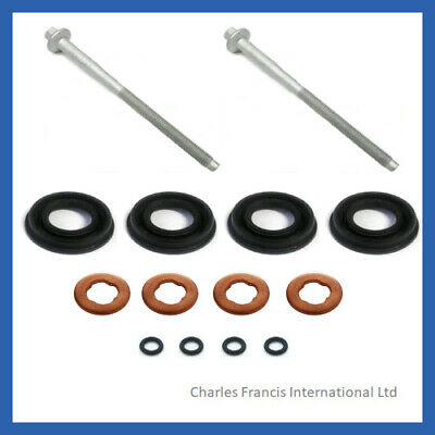 FORD TRANSIT MK7 2.2 TDCi  DIESEL INJECTOR SEAL KIT + INJECTOR CLAMP BOLTS • 24.25£