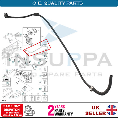 Thermostat Hose For Vauxhall Opel Astra G H Insignia A Zafira B Vectra C 1.6 1.8 • 12.99£