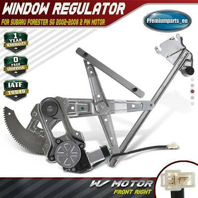 Window Regulator With Motor Front Right For Subaru Forester SG 02-08 2 Pin Motor • 62.99£