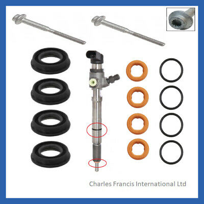 VW Caddy 1.6 Injector Bolts Washers Body Seals WHT000884 WHT003187 03L130519 • 39.99£