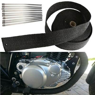 15M Motorcycle Exhaust Manifold Downpipe Thermal Heat Wrap Insulation Roll Tape • 8.99£