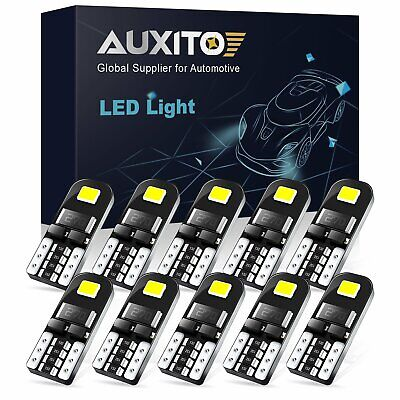 10pc Super Bright 501 Led Side Light Bulbs Canbus T10 Number Plate Interior Lamp • 5.58£
