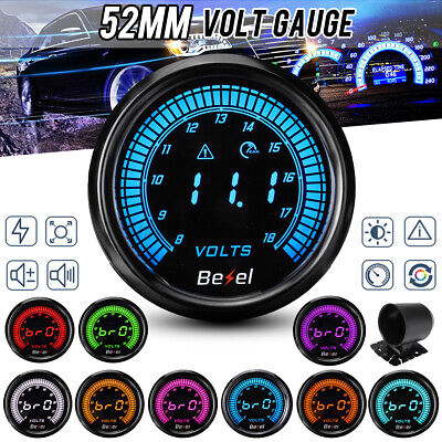 2'' 52mm Car Voltmeter Digital Blue Led Voltage Gauge Volt Meter 12v 10 Colors  • 29.99£