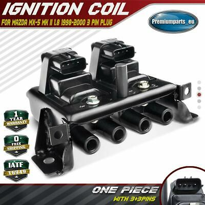Ignition Coil Pack For Mazda MX-5 MX5 MK2 NB 1.8 1998-2000 BP4W1810XB 3 Pin Plug • 43.99£