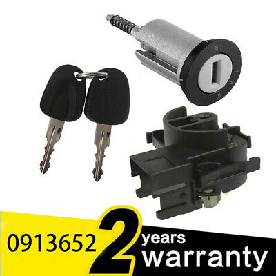 For VAUXHALL COMBO C MERIVA-A CORSA-C TIGRA-B Ignition Switch + Barrel + Keys • 14.99£
